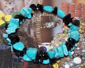 A Cowgirls Heart Howlite Magnesite and Stone Wire Wrap Bracelet