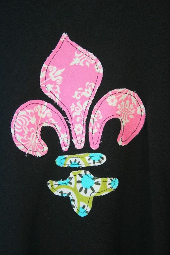 Sweetie Pie Design - Fleur de lis T - Size 5/6 - READY TO SHIP
