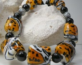 THE CALL of the WILD Handmade Lampwork Necklace