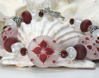 VALENTINE Handmade Lampwork Bead Bracelet