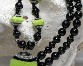 TENDER Handmade Lampwork Bead Necklace