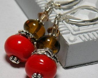 SPLENDOR Handmade Lampwork Bead Dangle Earrings Free Shipping
