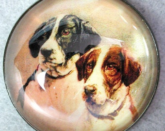 Two Sweet Dogs Crystal Dome Button w Shank for Sewing