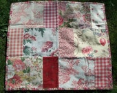 RePlay Blanket (made from recycled upholstery samples) NIGHT GARDEN DESIGN (upcycle)