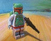 Star Wars Boba Fett Toy Figure Print