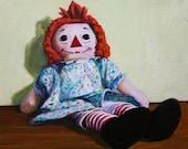 "Raggedy Ann Doll 8""x10"" Print, Nursery Art"