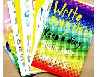 9 inspirational postcards, your choice of designs