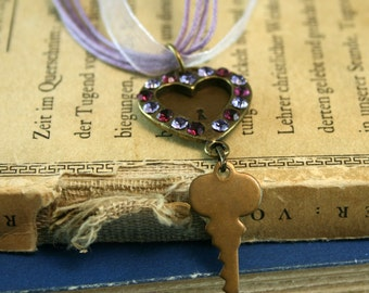 LOCKED HEART Vintage Findings Necklace (Ready to Ship)