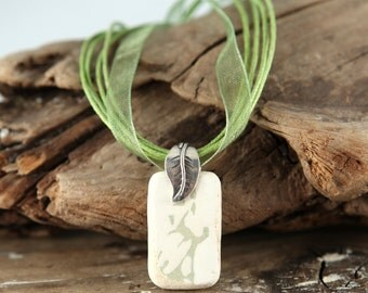 Nature Imprints GENUINE Beach Pottery Necklace RARE (Ready to Ship)