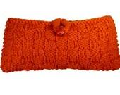 knit clutch -orange