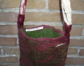 Felted tote bag \/ hand bag with handspun strap