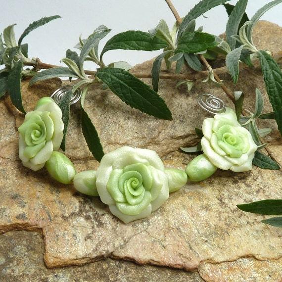 Rose  Bead Set Margarita Lime
