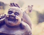 Fine Art Photograph, Buddha Statue, Happy, Smile, Spiritual Art, Buddha Photo, Garden Art, Zen, Laughing, Home Decor, Wall Art, Small Art