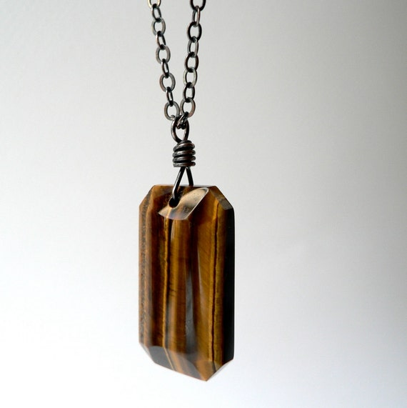 tiger-tiger, tiger's eye pendant necklace
