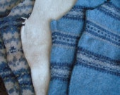 Wool felt from recycled sweater scraps - BLUES