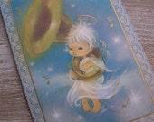 Vintage Christmas Cards - Hallmark - Musical Angel