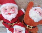 Vintage Christmas Ornaments - Flocked Whimsical Characters - Misfit Toys