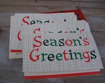 Vintage Christmas Cards - Hallmark - Seasons Greetings