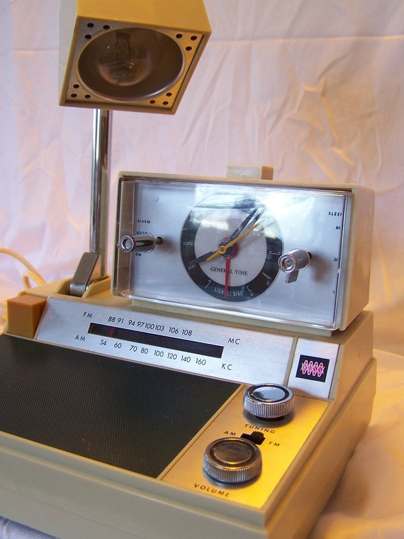Vintage 1980s Alarm Clock Radio Desk Lamp Combo By By