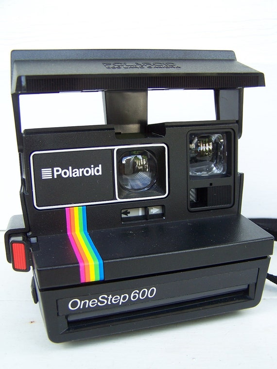 working vintage polaroid onestep 600 land camera by thehomegnome polaroid onestep 600 manual polaroid onestep battery