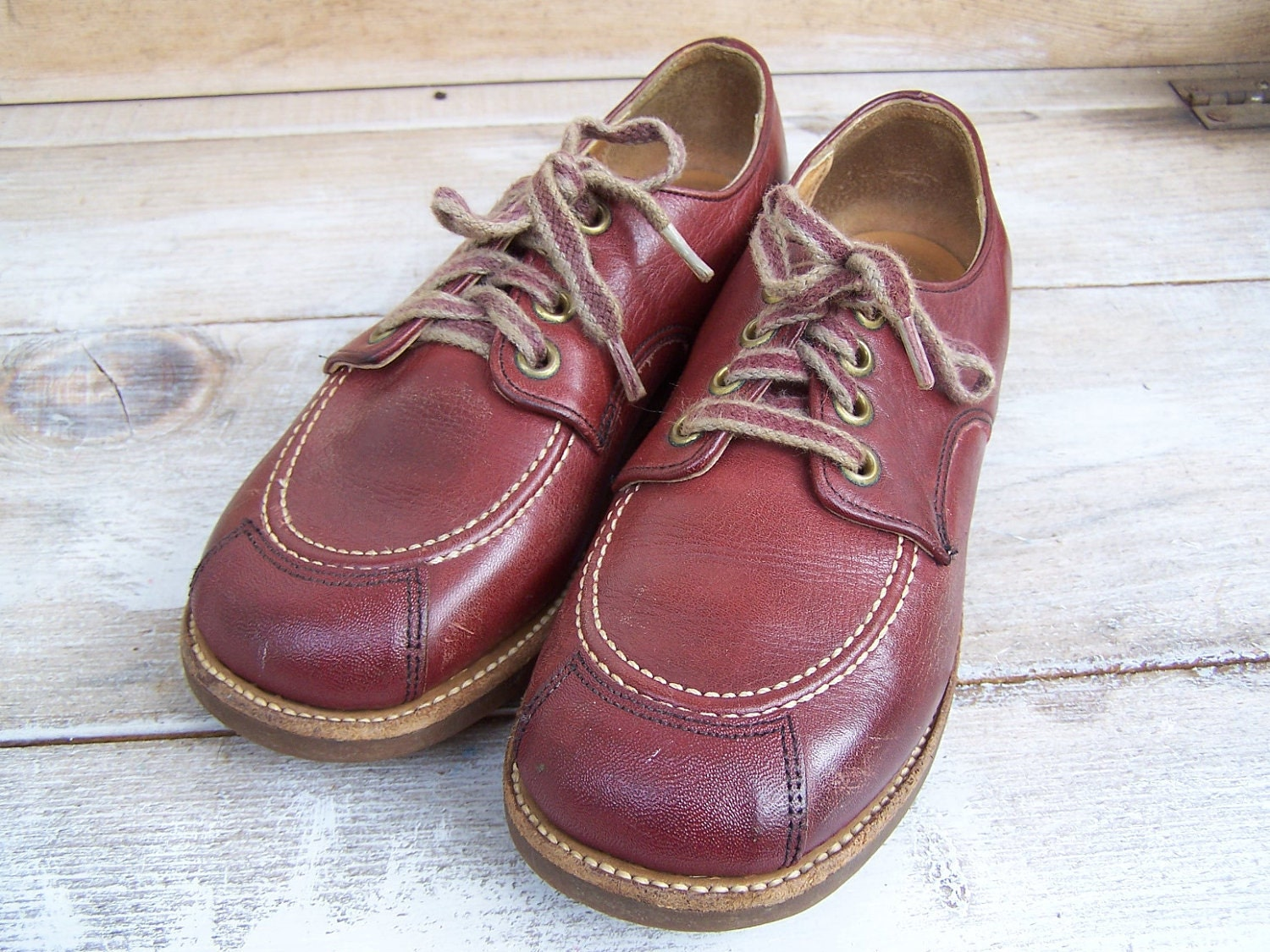 vintage buster brown shoes children brown by thehomegnome