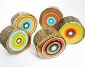 Set of Five Original Midcentury Scandinavian Pieces on Wood