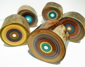 Tree Ring Paintings on Upcycled Firewood