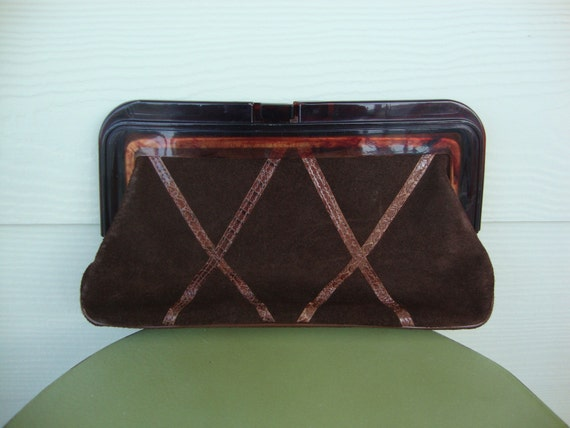 Vintage Leather Clutch Purse by Margolin