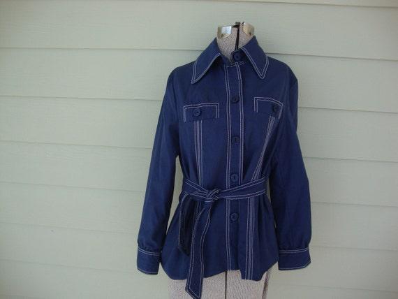 Vintage Navy Blue Day Coat