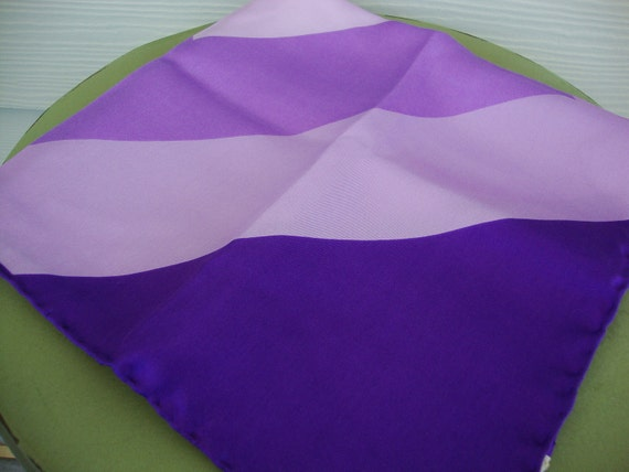 RESERVED for Sanford Vintage 1960s Ohrbach's Purple Geometric Print Silk Scarf Made in Italy