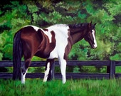 Custom Pet Portrait Pet Painting 8x10 Hand Painted Any Animal Dog Cat or Horse