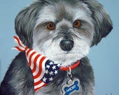 Hand Painted Custom  Pet Portrait Pet Painting any Dog Cat or Horse Art by Sharon Lamb
