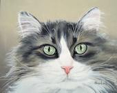 Custom Pet Portrait Pet Painting 8x10 Dog Cat Horse Any Animal Hand Painted