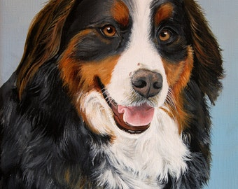 16 x 20 Detailed Custom Pet Portrait Pet Painting Your Photo Dog Cat or Horse Art by Sharon Lamb