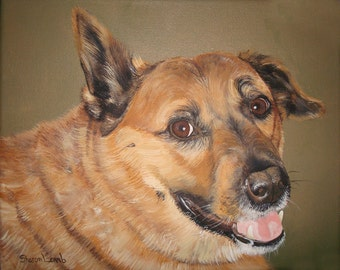 Beautiful Pet Painting 16 x 20 detailed Pet Portrait of Your Dog Cat or Horse Any Animal Welcome