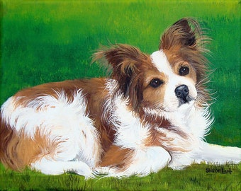 8x10 Custom Pet Painting Pet Portrait Your Theme and Photo any Pet Realistic Detail Art by Sharon Lamb