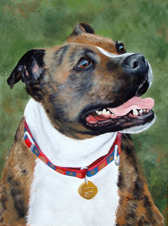 Custom Pet Portrait Pet Painting 11x14 All Size Canvas Available Any Pet Welcome