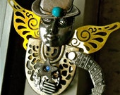 Airship Captain Wallace Winnipeg  Steampunk jewelry by mary vogel lozinak  srajd  brooch  zne  Tateam