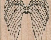 Steampunk Angel bird wings rubber stamps place cards gifts   unmounted  number18658