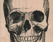 skulls rubber stampo Day of the Dead rubber stamps    wood mounted 2403