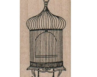 Victorian Birds  Cage  stamp  unMounted   rubber stamp    stamp number 17131