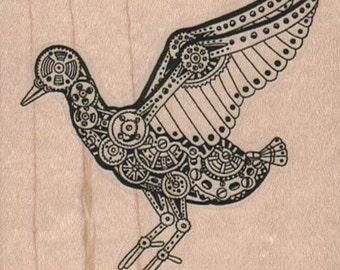 Victorian Birds  Steampunk    stamp  unMounted   rubber stamp    stamp number 15994