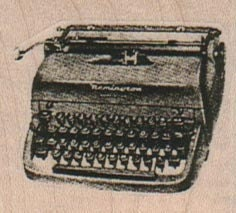 Rubber stamp woman in Steampunk portable typewriter unMounted scrapbooking supplies number 12626 steampunk buy now online