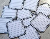 JOT YO THOUGHT - Black Toile Journaling Blocks - Set of 10