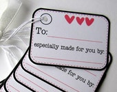 Especially Handmade for You Prestrung Tags - Set of 8 - for handmade gift giving, etsy shops, craft shows