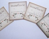 100 Customized 2 x 2 inch Logo Business Cards, Hang Tags, Earring, Necklace or Hairclip Cards