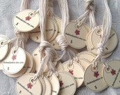 MICRO TAGS - 70 Customized 1 inch Circle Tags - perfect for jewelry and other small items
