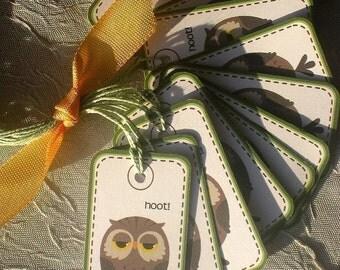 HOOT Mini Owl Tags - Set of 12