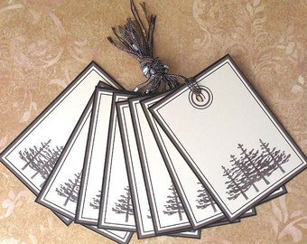 If A Tree Falls In the Forest Tags - Set of 8