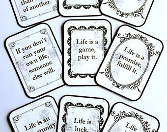 "Word of Wisdom ""LIFE IS"" Flashcards - Set of Nine"